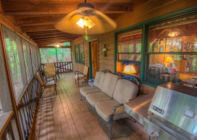 Screened porch of the house