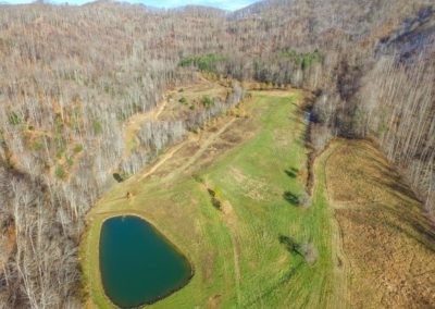 18 acres of field with pond